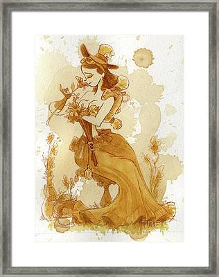 Flower Girl Framed Print by Brian Kesinger