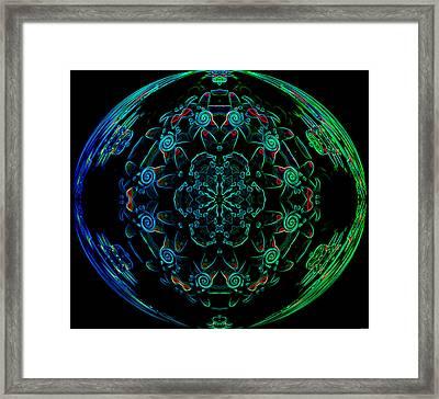 Flower Globe Framed Print by Evelyn Patrick