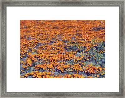 Flower Hill Framed Print by Russ Harris