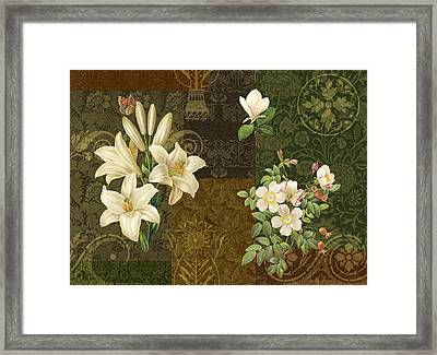 Flower Patchwork 2 Framed Print by JQ Licensing