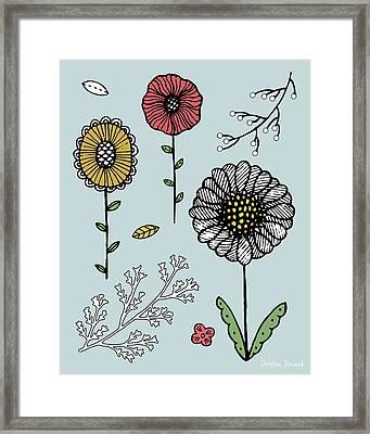 Flower Play Framed Print by Christina Steward
