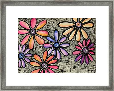 Flower Series 4 Framed Print by Graciela Bello