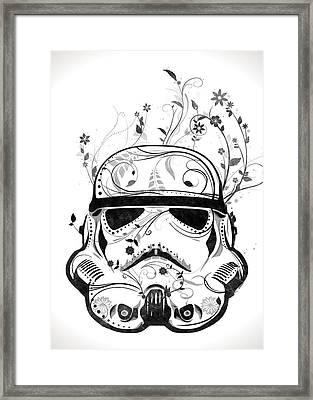 Flower Trooper Framed Print by Nicklas Gustafsson