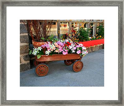 Flower Wagon Framed Print by Perry Webster