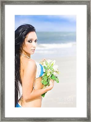 Flower Woman Framed Print by Jorgo Photography - Wall Art Gallery