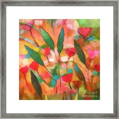 Flowerflow Framed Print by Lutz Baar