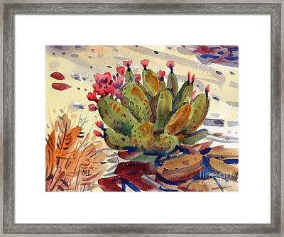 Flowering Opuntia Framed Print by Donald Maier