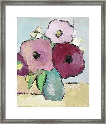 Flowers 1601 Framed Print by Becky Kim