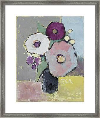 Flowers 1602 Framed Print by Becky Kim