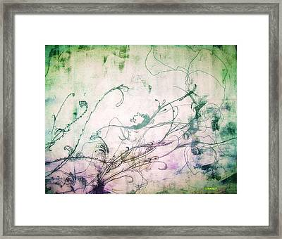 Flowers And Vines Two Framed Print by Tomislav Neely-Turkalj