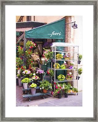 Flowers Anyone Framed Print by Daphne Sampson