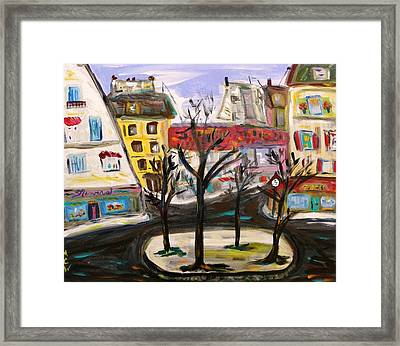 Flowers At The Corner Framed Print by Mary Carol Williams