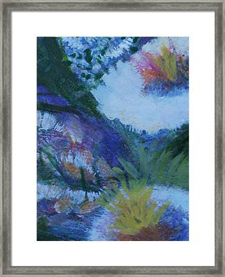 Flowers Bending With The Wind Framed Print by Anne-Elizabeth Whiteway
