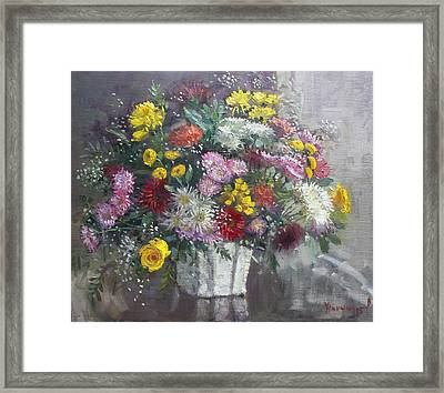 Flowers For Viola Framed Print by Ylli Haruni