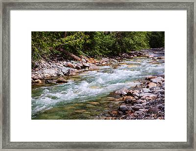Flowing Mountain Rivers Landscape Art By Omashte Framed Print by Omaste Witkowski