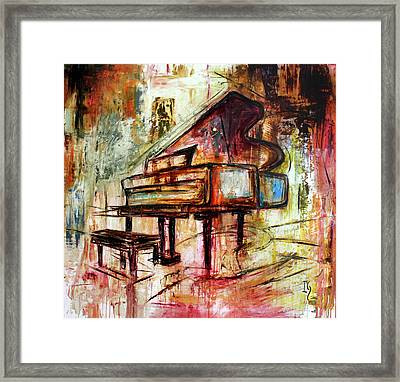 Flowing Notes Framed Print by Ivan Guaderrama