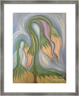 Flowing Onions Framed Print by Michelle  Thomann-Ramirez