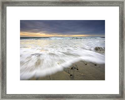 Flowing Stones Framed Print by Mike  Dawson
