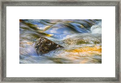Flowing Water Framed Print by Adam Romanowicz