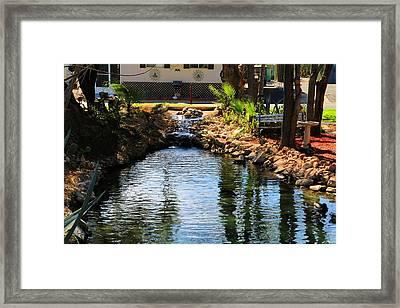Flowing Wells Framed Print by Kathryn Meyer
