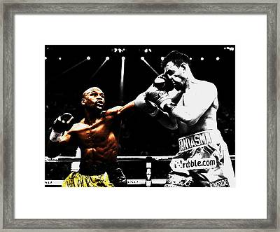 Floyd Mayweather And Guerrero Framed Print by Brian Reaves