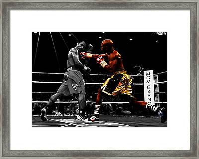 Floyd Mayweather Vs Manny Pacquiao Framed Print by Brian Reaves