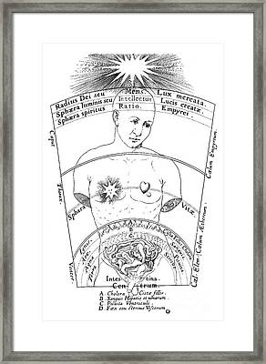 Fludds De Microcosmo Externo, 1600s Framed Print by Folger Shakespeare Library