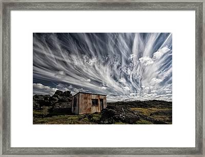Fluffy Sky Framed Print by ?orsteinn H. Ingibergsson
