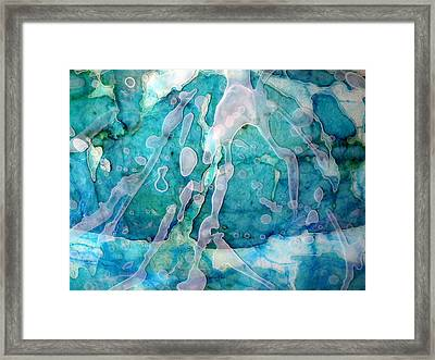 Fluid Interaction Framed Print by Angela McKenzie