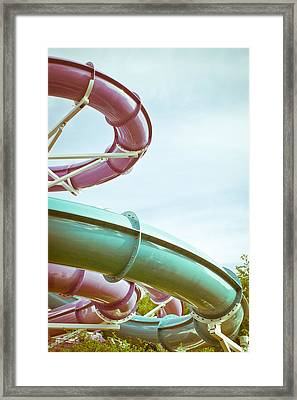 Flumes Framed Print by Tom Gowanlock