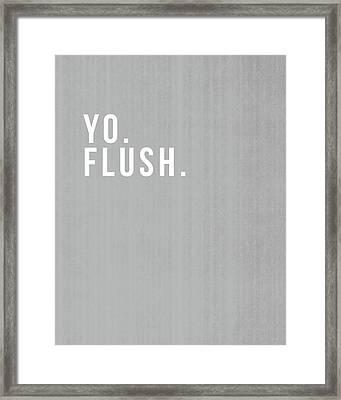 Flush- Art By Linda Woods Framed Print by Linda Woods