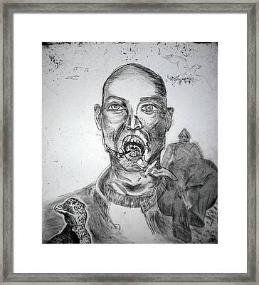 Fluttering Out Framed Print by Krystl Louwagie