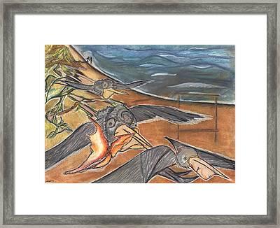 Fly By Framed Print by Stu Hanson