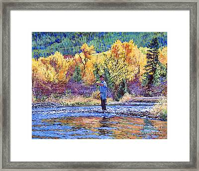 Fly Fishing Framed Print by David Lloyd Glover