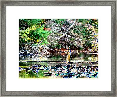 Fly Fishing Framed Print by Peter  McIntosh