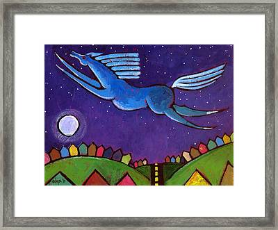 Fly Free From Normal Framed Print by Angela Treat Lyon