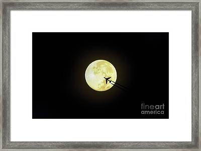 Fly Me To The Moon Framed Print by D Hackett