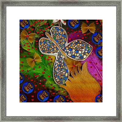 Fly With Me In Love Framed Print by Pepita Selles