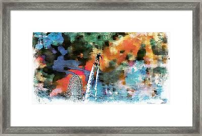 Flyboard  Framed Print by Jean Francois Gil