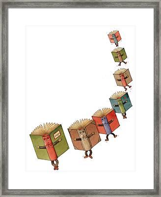 Flying Books02 Framed Print by Kestutis Kasparavicius