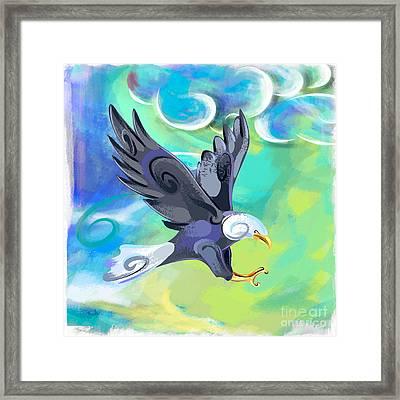 Flying Eagle Framed Print by Bedros Awak