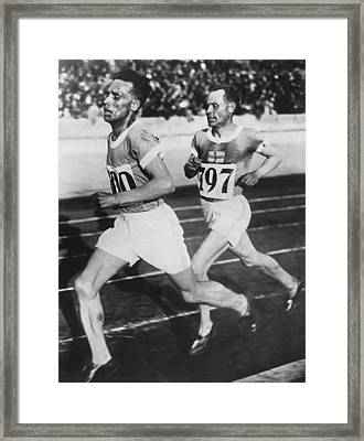 Flying Finns At Olympic Games Framed Print by Underwood Archives