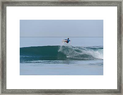 Framed Print featuring the photograph Flying In A Blue Dream I by Thierry Bouriat