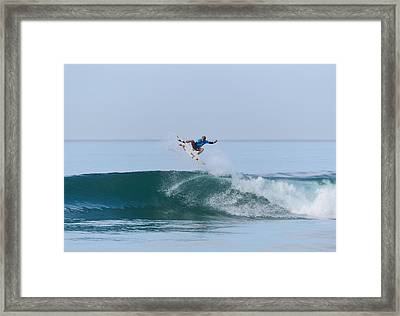 Framed Print featuring the photograph Flying In A Blue Dream II by Thierry Bouriat