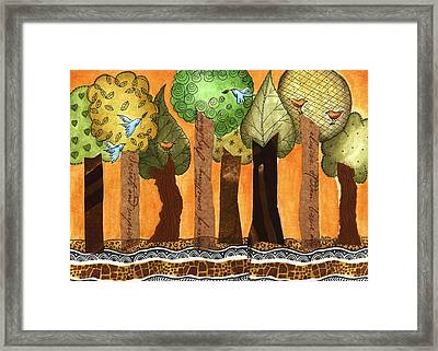 Flying In The Forest Framed Print by Graciela Bello