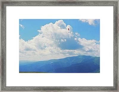 Flying In The Sky Framed Print by Anton Popov