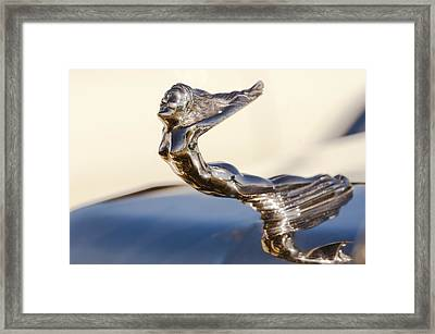 Flying Lady Hood Ornament Framed Print by Jill Reger