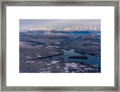 Flying Over Southeast Alaska Framed Print by Mike Reid