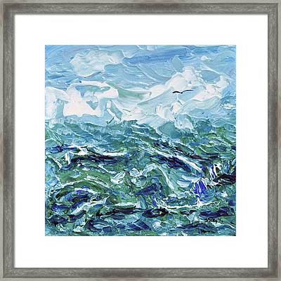 Flying Overseas Framed Print by Donna Blackhall