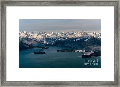 Flying Past Le Conte Glacier Framed Print by Mike Reid